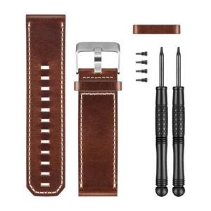 Bracelet de montre en cuir marron
