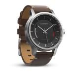 vívomove™ Premium, acier inoxydable avec bracelet en cuir