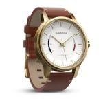 vívomove™ Premium, acier doré avec bracelet en cuir
